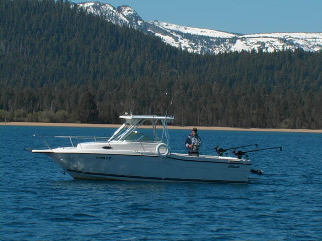 Tahoe fishing charter boats lake tahoe sport fishing for Tahoe sport fishing